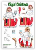 Flippin Santa Suit Die Cut Decoupage  (with free insert) - Flippin' Christmas