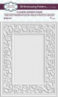 Flourish Border Frame 3D Embossing Folder EF3D-017