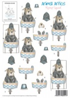 Flying Squad - Animal Antics - 3D Decoupage Sheet - Design House