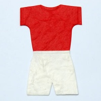 Football Kit Red Shirt / White Shorts Diecut