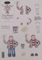 Football Man Decoupage Sheet 97701