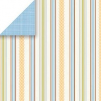 Frisbee Stripe 12 x 12 Sun Room Collection Scrapbook Walls Chatterbox 20824