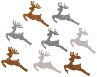 Glitter Reindeers Silver White Gold AC9366X