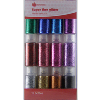Glitter Super Fine Metallics Woodware Set Of 12 JL801