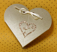 Gold Glitter Scroll Heart Self Adhesive Motif Syntego BN7061