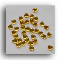 Gold Heart Crystal Gems 6mm Syntego BN3112 pack qty 100