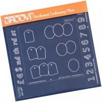 Groovi Inset Numbers Clarity Stamps GRO-WO-40133-11