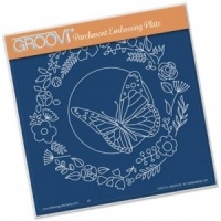 Groovi Plate Butterfly Wreath A5