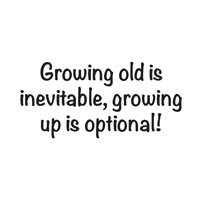 Growing Old Is Inevitable Stamp JWS054