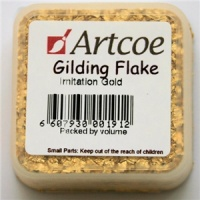 Imitation Gold Guilding Flakes Artcoe