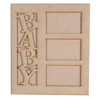 In The Nursery Baby MDF Picture Frame