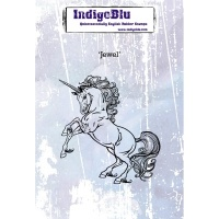 Jewel A6 Unicorn Red Rubber Stamp Indigoblu