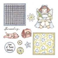 Julie Patchwork Polly and Friends Stamp Set