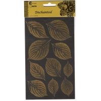 Gold and Silver Leaf Stickers AC0161E