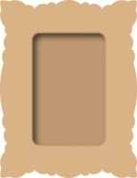 MDF Rectangle Frame Craftime 460407060