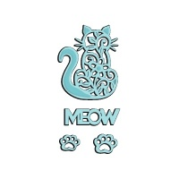 Meow Cat Die Set Sweet Dixie SDD140