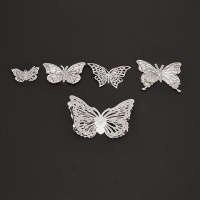 Metal Butterfly 3D Embellishments  Pack Of 50