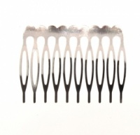 Metal Hair Comb (10 tooth) Pack of 4