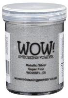 Metallic Silver Super Fine Embossing Powder 15ml WC05SF