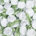 Ribbon Roses White KPP230