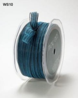 Midnight Marine - 3/8'' Sheer Irridescent Pinstripe Ribbon (1 mtr) - Cosmic Shimmer