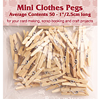 Mini Clothes Pegs Woodware 1115A