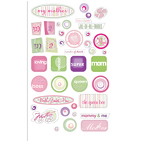 Mother Sentiments - E-Z 3D Adhesive Epoxy Embellishments - Royal & Langnickel ROY3554