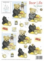 No Smoke - Bear Life - 3D Decoupage Sheet - Design House