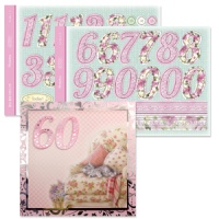 Numbers Die Cut Big Birthdays For Her Celebrations Collection ASC06