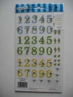 Numbers E-Z Rub-on Transfers