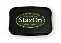 Olive Green Stazon Solvent Ink Pad SZ-51
