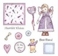 Olivia Patchwork Polly and Friends Stamp Set