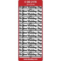 On Your Wedding Day Peel Off Silver DD2178