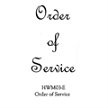 Order Of Service Stamp HWM03-E