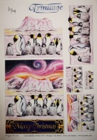 Penguin Parade Trinitage Sheet