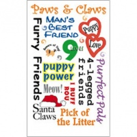 Pet Phrases E-Z Rub-On Sentiments Transfers - Royal & Langnickel ROY537