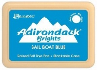 Sail boat Blue Adirondack Brights Raised Felt Dye Ink Pad ABP07197