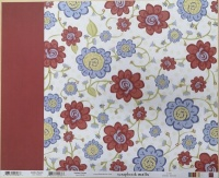 Sandbox Flowers Scrapbook Walls 20536