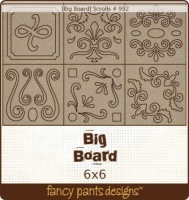 Scrolls Big Board Chipboard Fancy Pants 992