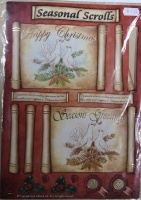 Seasonal Scrolls Dove Decoupage Sheet