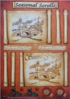 Seasonal Scrolls Town Decoupage Sheet