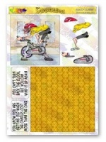 Senior Cyclist Decoupage Plus The Wrinklies Collection
