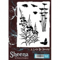 Silhouette Wildflowers A Little Bit Sketchy Stamp Set Sheena Douglass SD-SS-WILD