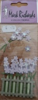 Small Flowers & Fence Embellishment Stickers Mark Richards #2321