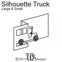 Small Truck Silhouette Tempting Template WS Designs