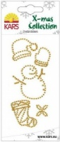 Snowman / Snowcap Gold Crystal Stickers