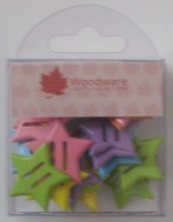 Stars Primary Ribbon Brads 20 pcs Woodware JL404