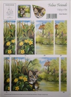 Taking a Dip Feline Friends Side Stacker Sheet