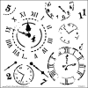 Time Travel Stencil 12'' x 12'' The Crafters Workshop