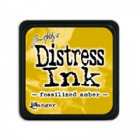 Tim Holtz Mini Distress Ink Pad Fossilized Amber TDP46783